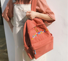 "Load image into Gallery viewer, ""LOVE WORLD"" BACKPACK (5 COLORS)"