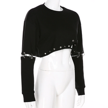 "Load image into Gallery viewer, ""MIDNIGHT LOVE"" CROPPED SWEATSHIRT"