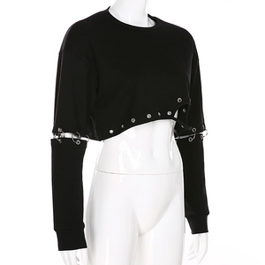 """MIDNIGHT LOVE"" CROPPED SWEATSHIRT"