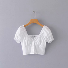 "Load image into Gallery viewer, ""SPRING LOVE"" CROP TOP (2 COLORS)"