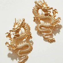 "Load image into Gallery viewer, ""GOLDEN DRAGON"" EARRINGS (2 DESIGNS)"