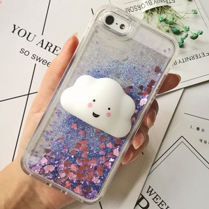 """SQUISHY GLITTER FRIENDS"" IPHONE CASE (3 COLORS)"