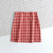 "Load image into Gallery viewer, ""THERESA"" PLAID SKIRT"