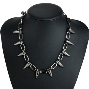 """STAY AWAY"" SPIKED CHOKER"