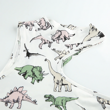 "Load image into Gallery viewer, ""DINOSAUR FRIENDS"" TURTLENECK CROP TOP"