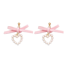 "Load image into Gallery viewer, ""PINK HEARTS"" EARRINGS"