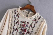 "Load image into Gallery viewer, ""MOTHER'S FLOWERS"" BLOUSE"