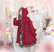 "Load image into Gallery viewer, ""RED LADY"" WINTER COAT"