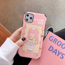 "Load image into Gallery viewer, ""LUCKY GIRL"" IPHONE CASE (2 COLORS)"