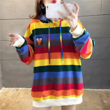 "Load image into Gallery viewer, ""SESAME STREET"" RAINBOW HOODIE (3 COLORS)"