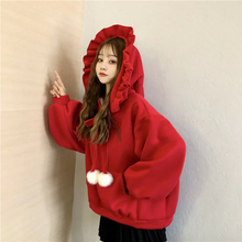 "Load image into Gallery viewer, ""LITTLE WITCH"" WINTER HOODIE (2 COLORS)"