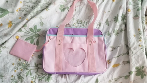 """PASTEL HEART"" BAG (5 COLORS)"