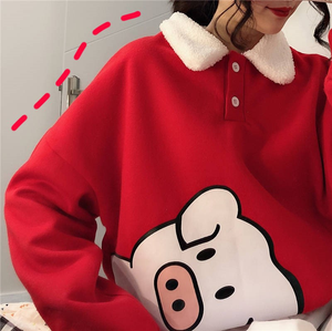 """WINTER PIG"" SWEATER (2 COLORS)"