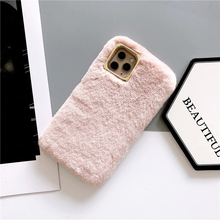 "Load image into Gallery viewer, ""PRINCESS"" FUZZY IPHONE CASE (6 COLORS)"