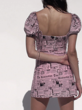 "Load image into Gallery viewer, ""NEWSPAPER BABE"" DRESS"