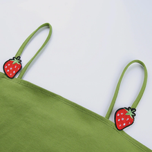 "Load image into Gallery viewer, ""STRAWBERRY FOREST"" CROP TOP"
