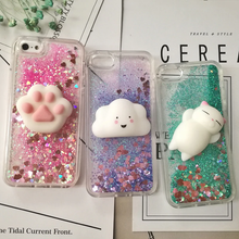"Load image into Gallery viewer, ""SQUISHY GLITTER FRIENDS"" IPHONE CASE (3 COLORS)"