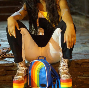 """RAINBOW CLOUDS"" PLATFORM BOOTS"