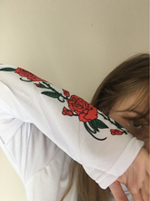 "Load image into Gallery viewer, ""ROSE LANGUAGE"" SWEATER"
