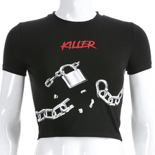 "Load image into Gallery viewer, ""KILLER"" CROP TOP"