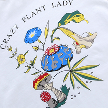 "Load image into Gallery viewer, ""CRAZY PLANT LADY"" CROP TOP"