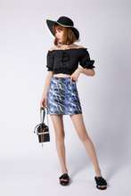 "Load image into Gallery viewer, ""BLUE LIGHTNING"" SKIRT"