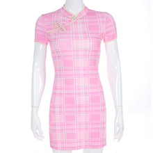 "Load image into Gallery viewer, ""PINK PLAID SPRING"" DRESS"