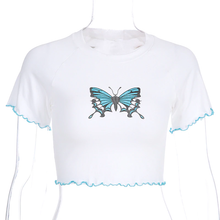 "Load image into Gallery viewer, ""SUMMER BUTTERFLY"" CROP TOP"