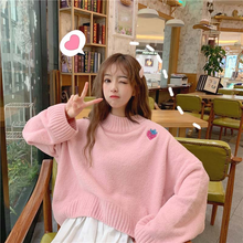 "Load image into Gallery viewer, ""STRAWBERRY LOVE"" SWEATER (3 COLORS)"