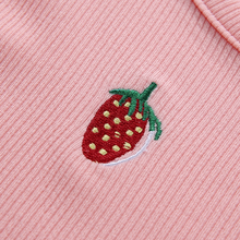 "Load image into Gallery viewer, ""STRAWBERRY BABE"" CROP TOP"