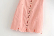 "Load image into Gallery viewer, ""PEACH DATE"" OVERALL DRESS"