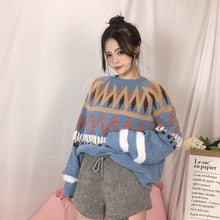 "Load image into Gallery viewer, ""BLUE WINTER"" SWEATER"