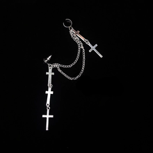 "Load image into Gallery viewer, ""FAIRY CROSS"" EARRING"