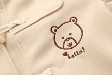 "Load image into Gallery viewer, ""HELLO BEAR"" COAT (2 COLORS)"