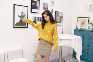"""SPOTTED"" SWEATER (2 COLORS)"