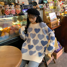 "Load image into Gallery viewer, ""LOVE LOVE"" SWEATER (2 COLORS)"