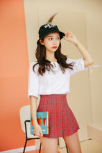 "Load image into Gallery viewer, ""SCHOOLGIRL RED"" PLAID SKIRT"