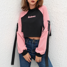 "Load image into Gallery viewer, ""ROCKMORE IN PINK"" SWEATER CROP TOP"