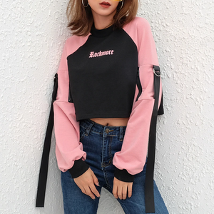 """ROCKMORE IN PINK"" SWEATER CROP TOP"