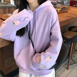 """COZY STRAWBERRIES"" HOODIE (2 COLORS)"