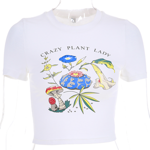 """CRAZY PLANT LADY"" CROP TOP"