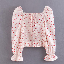 "Load image into Gallery viewer, ""SPOTTED SPRING DAY"" BLOUSE"