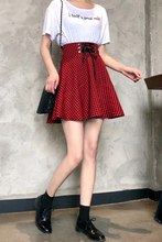 Load image into Gallery viewer, BOW KNOT GINGHAM SKIRT (2 COLORS)