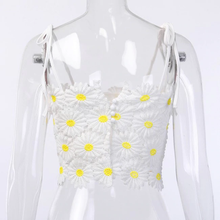 "Load image into Gallery viewer, ""SUMMER DAISIES"" CROP TOP"