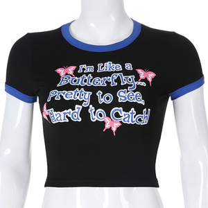 """I'M LIKE A BUTTERFLY"" CROP TOP"