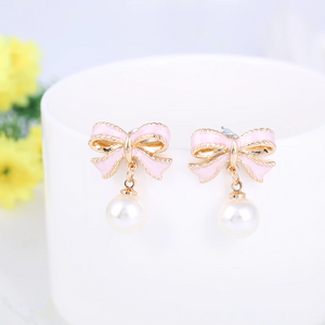 """DARLING BOWKNOT"" EARRINGS"