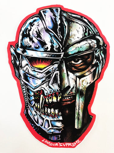 CZARFACE X MF Doom Large Die-Cut Sticker