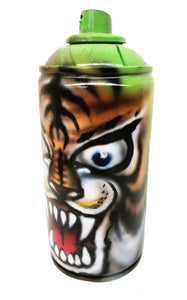 Painted Tiger on Empty Spray Can