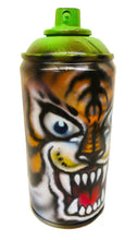 Load image into Gallery viewer, Painted Tiger on Empty Spray Can