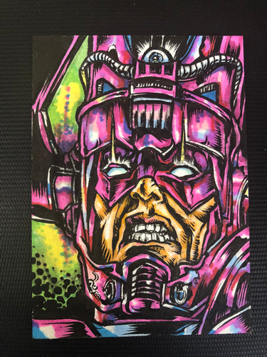 Galactus Original LAmour Sketch Card